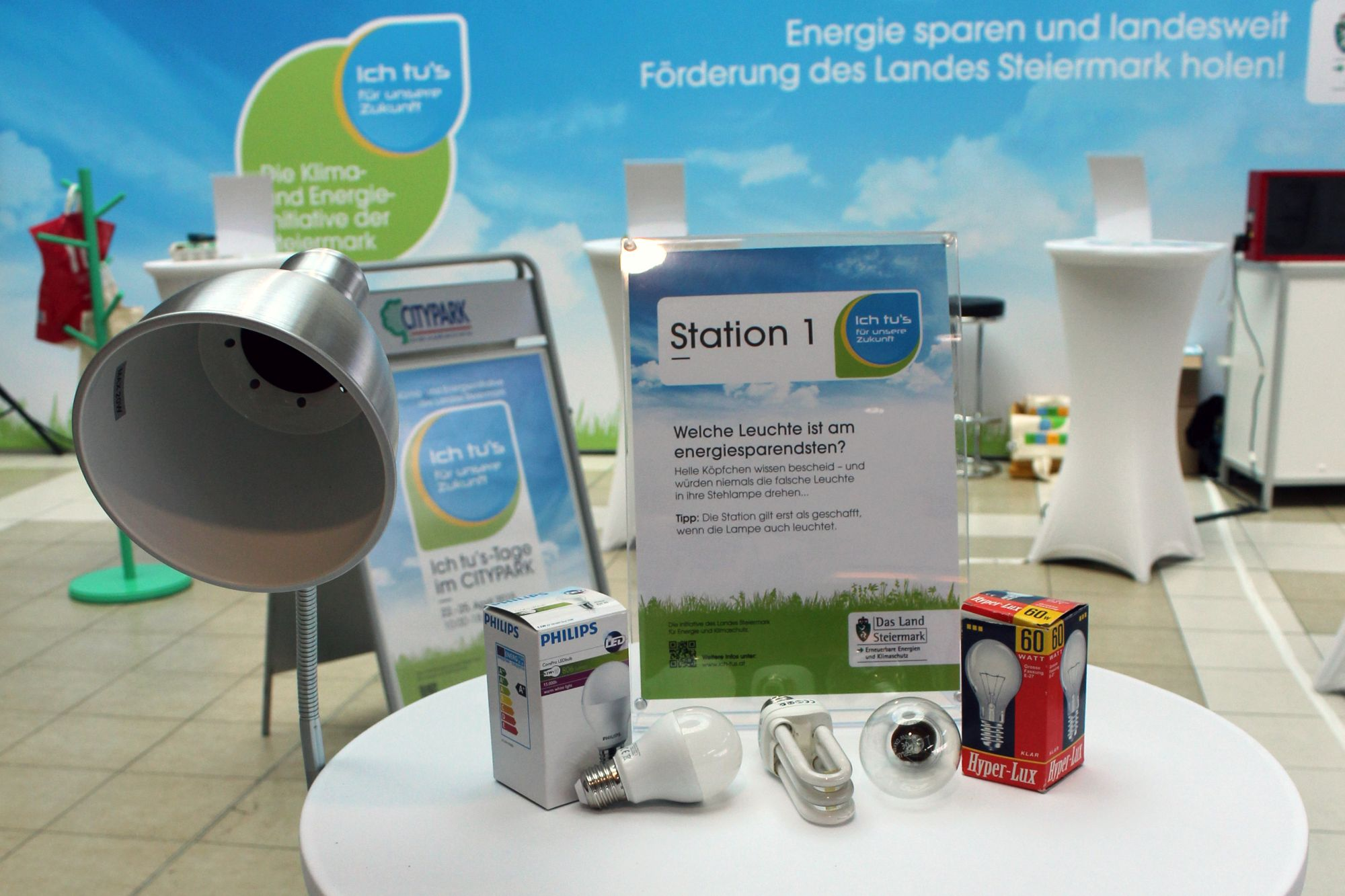 Station im Energiesparcours